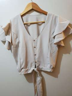 BRAND NEW: Cropped Ruffled Blouse