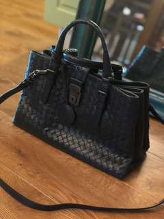 Bottega Veneta Prusse Intrecciato Calf Small Roma Bag