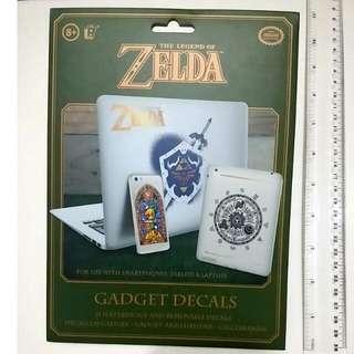 全新 ZELDA 罕有正貨 The Legend Of Zelda Decals Waterproof Gadget Stickers For Laptop Cell Phone Ipad Smartphone Tablet New Collectible Rare 真品裝飾貼 Official Item Removable Decoration Retro 薩爾達傳說