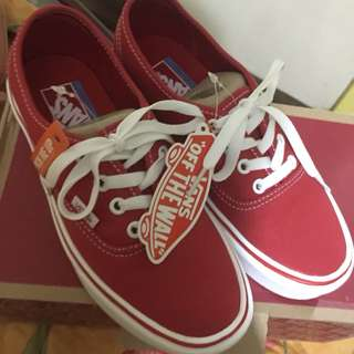 Authentic Vans Red Ultracush lightweight
