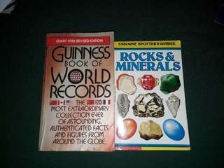 Guiness book of world records and rocks and minerals