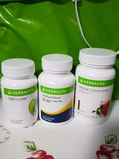 SG set Promo! Herbalife (Cell u loss, Herbalifeline, Herbal Concentrate)