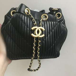 100% Authentic Chanel drawstring