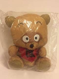 Sanrio vintage 浣熊日記 布公仔 1990 20cm高