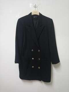 🚚 長版雙排扣羊毛西裝外套
