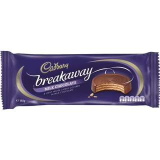 Cadbury Breakaway Milk Chocolate Biscuit 180g