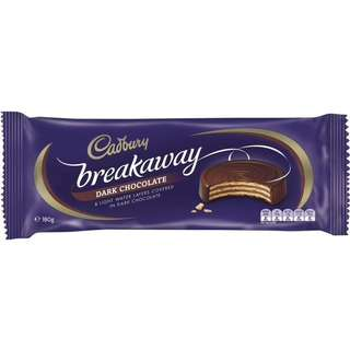 Cadbury Breakaway Dark Chocolate Biscuit 180g