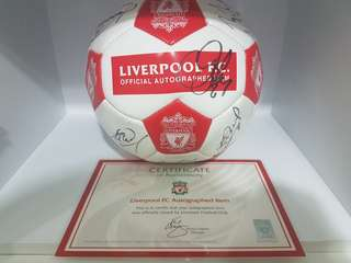 Authentic liverpool fc autographed ball