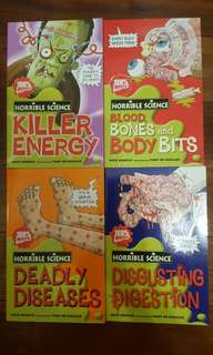 Horrible Science ~ 4 books