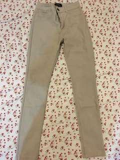 Super skinny beige jeans