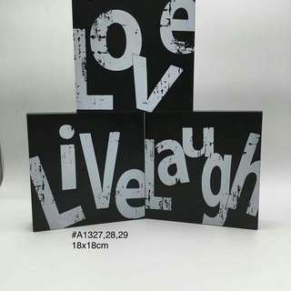 Live laugh love set 18x18 cm