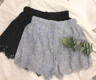 🚚 蕾絲鈎花短褲