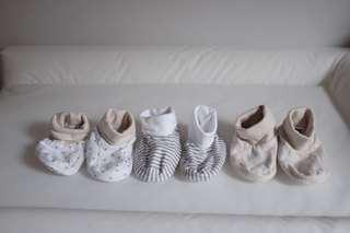 Mothercare booties (3 pairs)