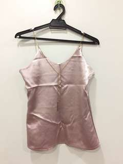 Gold buckle pink top