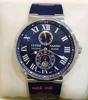 Preloved Ulysse Nardin Marine Chronometer Blue Dial Automatic 43mm (Watch only )