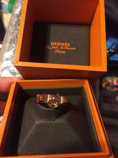 Hermes Collier de Chien Ring in rose gold