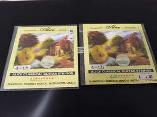 New Alice Classical Guitar Strings 4th-6th