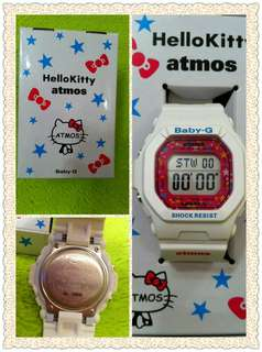 限量發售 限量編號 SANRIO HELLO KITTY x CASIO x atmos BABY-G BG-5600 10 ANNIVERSARY 10周年記念 女錶 白 桃紅 Hello Kitty G-SHOCK