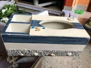 Beach-theme tissue box