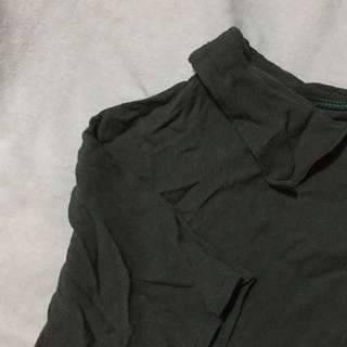 Military Green Cropped Top