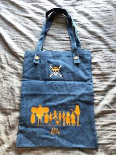 One Piece 牛仔布 tote bag
