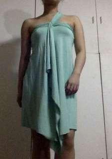 Armani Exchange greek-inspired dress
