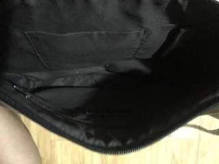 Black Leather Shoulder/Body Bag