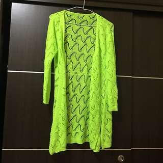 🚚 翠綠色針織罩衫