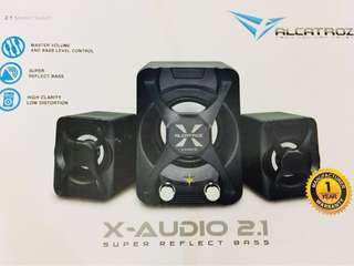 🚚 X-audio 2.1 speaker (red)