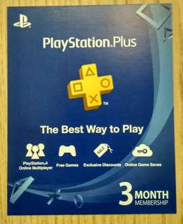 PlayStation ps plus 3 month