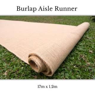 Burlap Aisle Runner **RENTAL** Wedding / Events Props & Deco