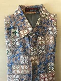 Kemeja Batik Sutra L/16 Lengan Panjang Tailor Made