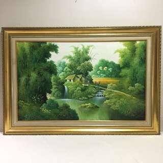 Sawah Hijau Painting
