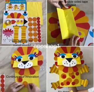 Handmade craft puppet/ children DIY handicrafts project/ party celebration goodies favors and games