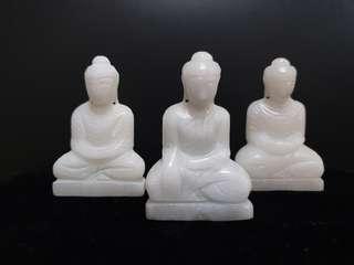 3inch marble buddha statue set
