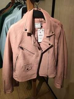 jaket kulit bershka