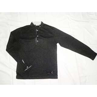 Qatar Sweater Shirt Dark Greja / Kemeja Abu Tua Gelap Kerja