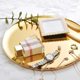 Nordic Gold Tray Plate **RENTAL** Wedding / Events Props & Deco