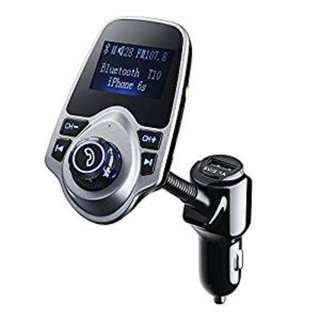 858. FM Transmitter, PrimAcc MP3 Player Bluetooth Radio Car Transmitter with Aux Port & Quick Usb Charger (5V 2.1A), Handsfree Car Kits Pairing iPhone, Android, Samsung, Galaxy, Smartphones, ipod