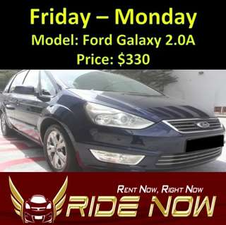Ford Galaxy 2.0A Weekend Rental
