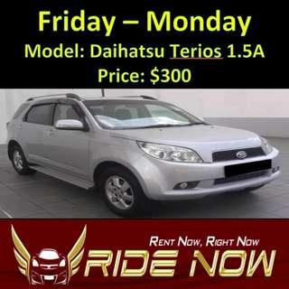 Daihatsu Terios 1.5A Weekend Rental