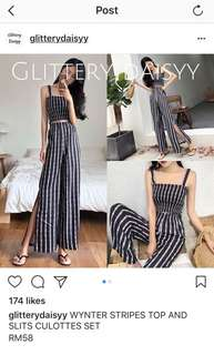 Stripe top and bottom set