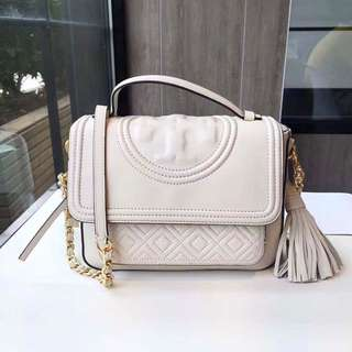 BNWT Tory Burch Fleming Satchel in White RRP$750