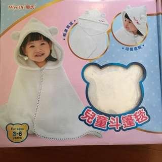 嬰幼兒斗篷毯