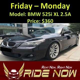 BMW 525i 2.5A Weekend Rental