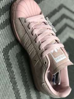 Authentic Adidas Superstar Salmon Suede Limited Edition