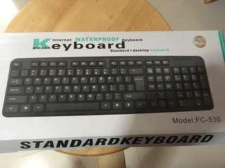 全新防水keyboard FC-530有中文輸入法