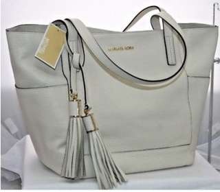 Micheal Kors Large Leather Bag ( beige/ cream)