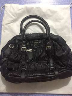 Authentic Prada Gaufre Leather Bag