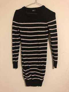 Dotti Striped Knit Dress (Size 6)